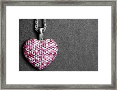My Heart Belongs To Effy Framed Print by Shelley Neff