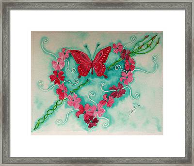 My Heart Has Been Pierced By Love Framed Print