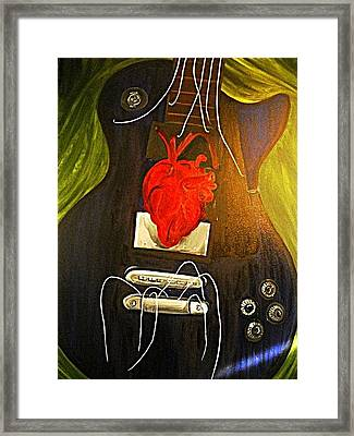 My Heart Is Music Framed Print by Cristin Chambers