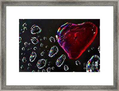 Framed Print featuring the photograph My Heart by Sylvie Leandre