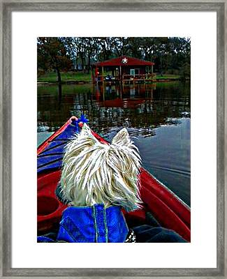 My Kayaker Buddie Framed Print by Carrie OBrien Sibley