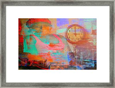 My Life As Time Goes By Framed Print by Fania Simon