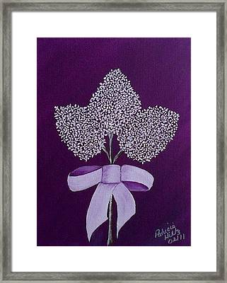 Framed Print featuring the painting My Lilas by Patricia Hiltz