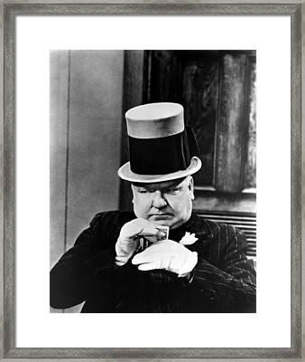 My Little Chickadee, W.c. Fields, 1940 Framed Print