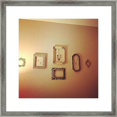 My Little Vintage Collage :) #room Framed Print