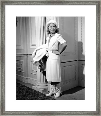 My Lucky Star, Sonja Henie,  1938 Framed Print