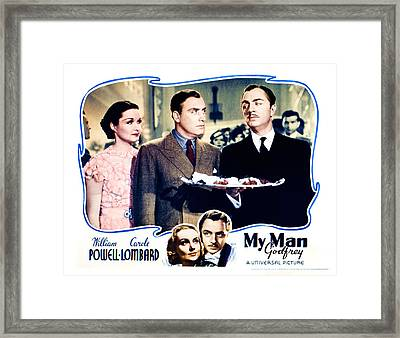 My Man Godfrey, Center Gail Patrick Framed Print by Everett