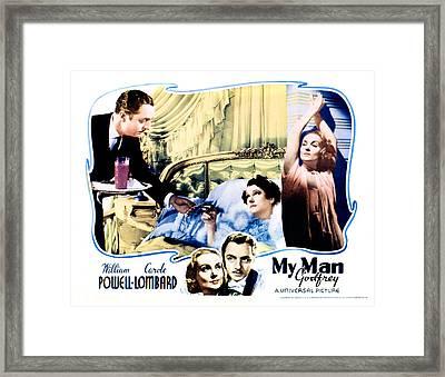 My Man Godfrey, Center William Powell Framed Print by Everett