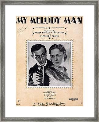 My Melody Man Framed Print