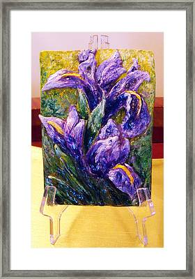 My Mini Irises Framed Print