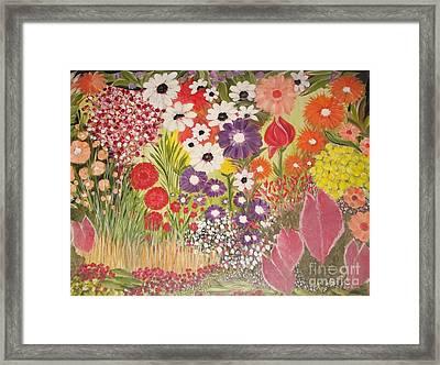 My Mother's Garden Framed Print