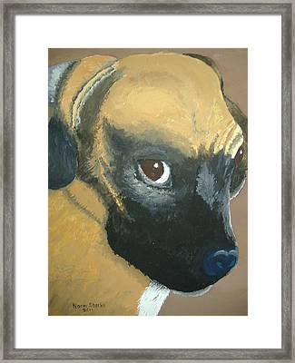 Framed Print featuring the painting My Name Is Attitude by Norm Starks
