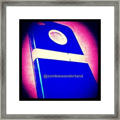 #my #new #blue #iphone #case That #i Framed Print