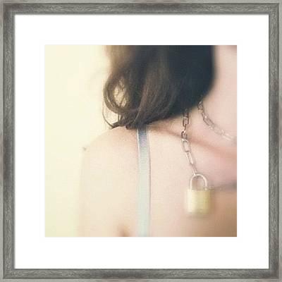 My New Tiffany Necklace Framed Print