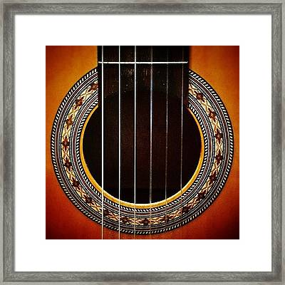 My Old #classical #guitar Framed Print