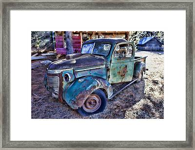My Old Truck Framed Print