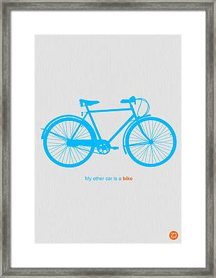 My Other Car Is A Bike  Framed Print by Naxart Studio
