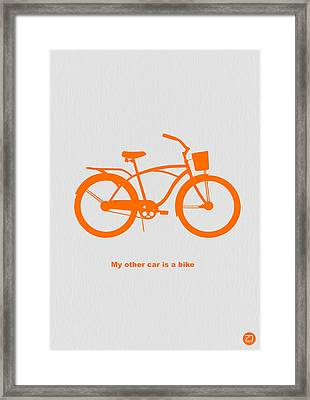 My Other Car Is Bike Framed Print