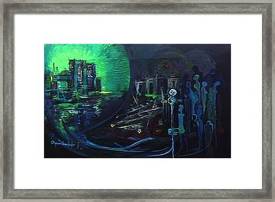 Framed Print featuring the painting My People And The Great Divide by Oyoroko Ken ochuko