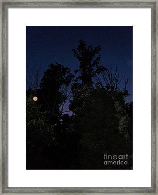 My Personal Backyard Moon Framed Print by Doug Kean