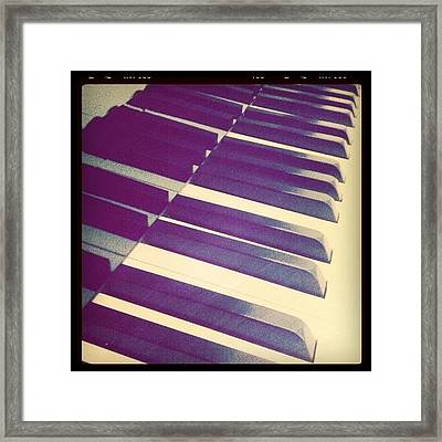 My Piano :) Music .. The Essence Of Framed Print