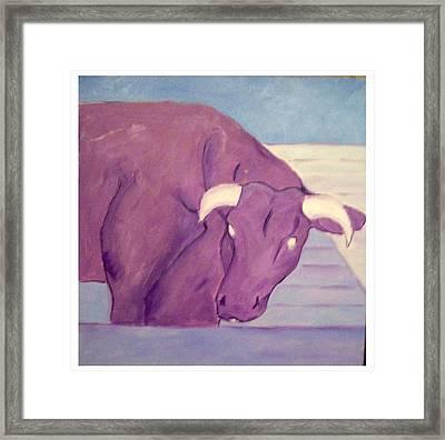 My Purple Cow Framed Print