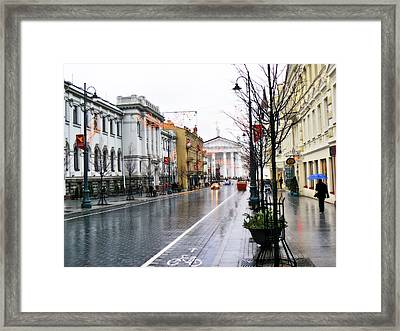My Rainy City Framed Print