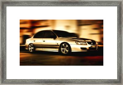 Framed Print featuring the digital art My Ride 001 by Kevin Chippindall