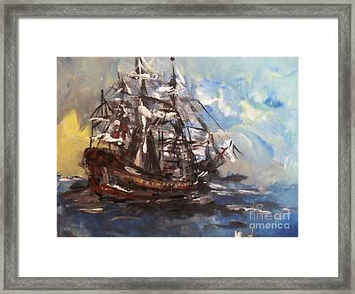My Ship Framed Print by Laurie L