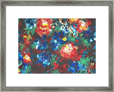 Framed Print featuring the painting My Sister's Garden II by Alys Caviness-Gober