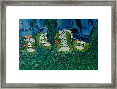 My Sister's Shoes Framed Print