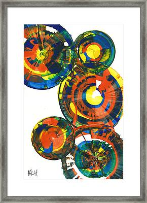 My Spheres Show Happiness  864.121811 Framed Print by Kris Haas