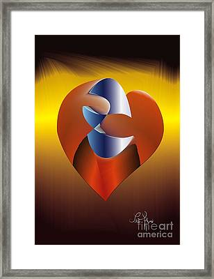 Framed Print featuring the digital art My Stories by Leo Symon