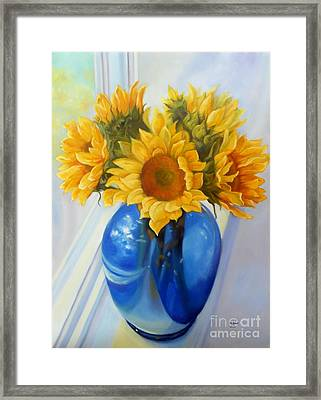 My Sunflowers Framed Print by Marlene Book