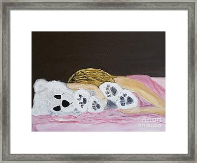 My Teddy Bear Framed Print by Leslie Allen