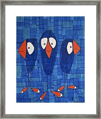 My Three Birds Framed Print