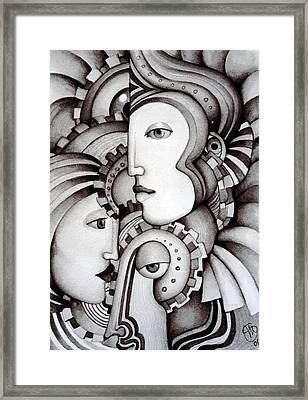 My Three Warriors Framed Print by Simona  Mereu