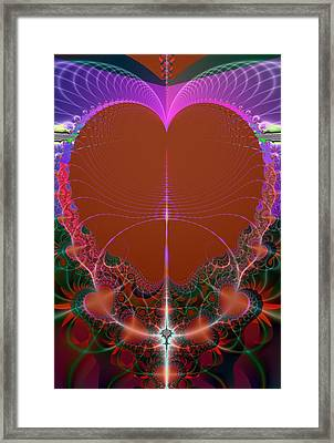 Framed Print featuring the digital art My Valentine by Ester  Rogers