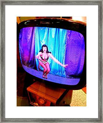 My Vegas Caesars 23 Betty Page Framed Print by Randall Weidner