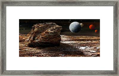 My View From Mars 2 Framed Print by Kaye Menner