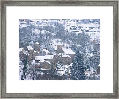 My Village Bozouls Framed Print