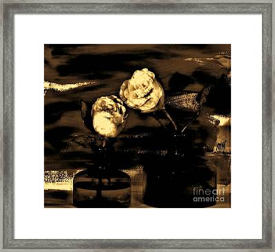 My Vintage Rose Picture Framed Print by Marsha Heiken