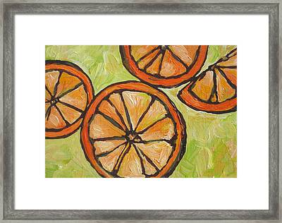 My Vitamin C Framed Print by Sandy Tracey