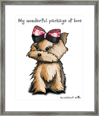 My Wonderful Package Of Love Framed Print by Catia Cho