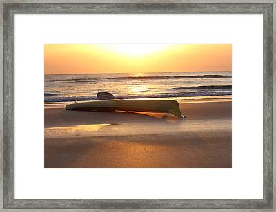 My Yellow Kayak Framed Print