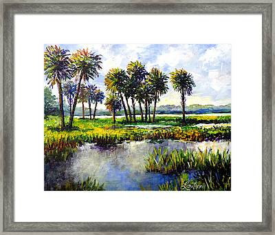 Framed Print featuring the painting Myakka Lake by Lou Ann Bagnall