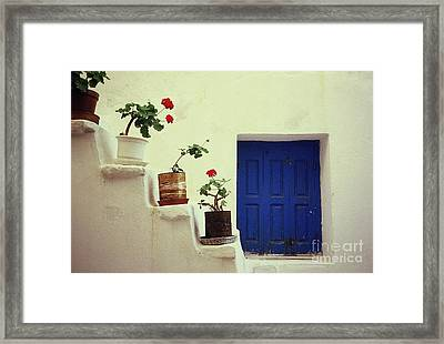 Framed Print featuring the photograph Mykonos by Ranjini Kandasamy