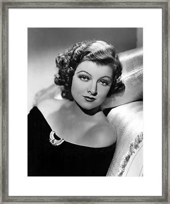 Myrna Loy By Clarence Sinclair Bull Framed Print by Everett