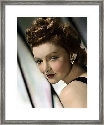 Myrna Loy, Mgm, 1940s Framed Print by Everett