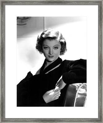 Myrna Loy, Mgm, 7236 Framed Print